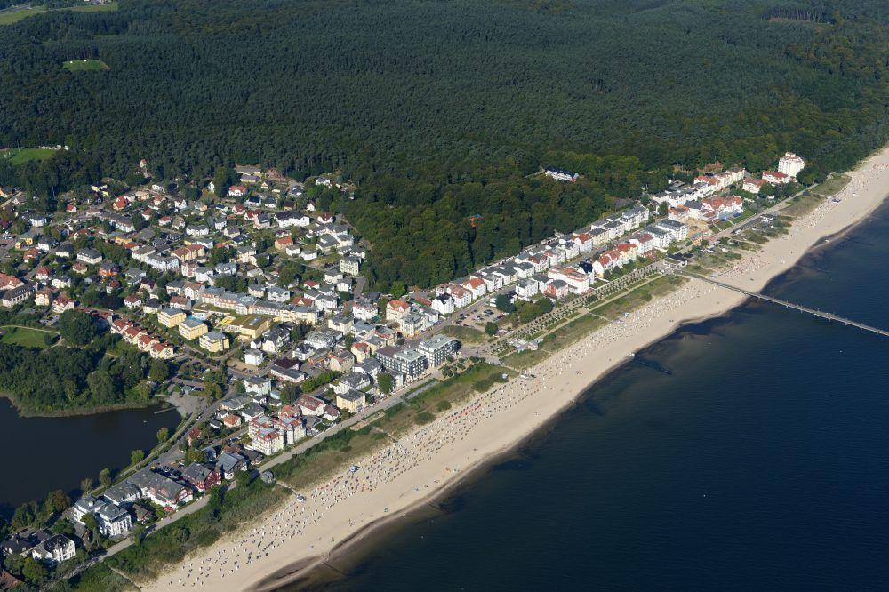 Heringsdorf Von Oben Ortsansicht Des Küstenbereiches Von Bansin