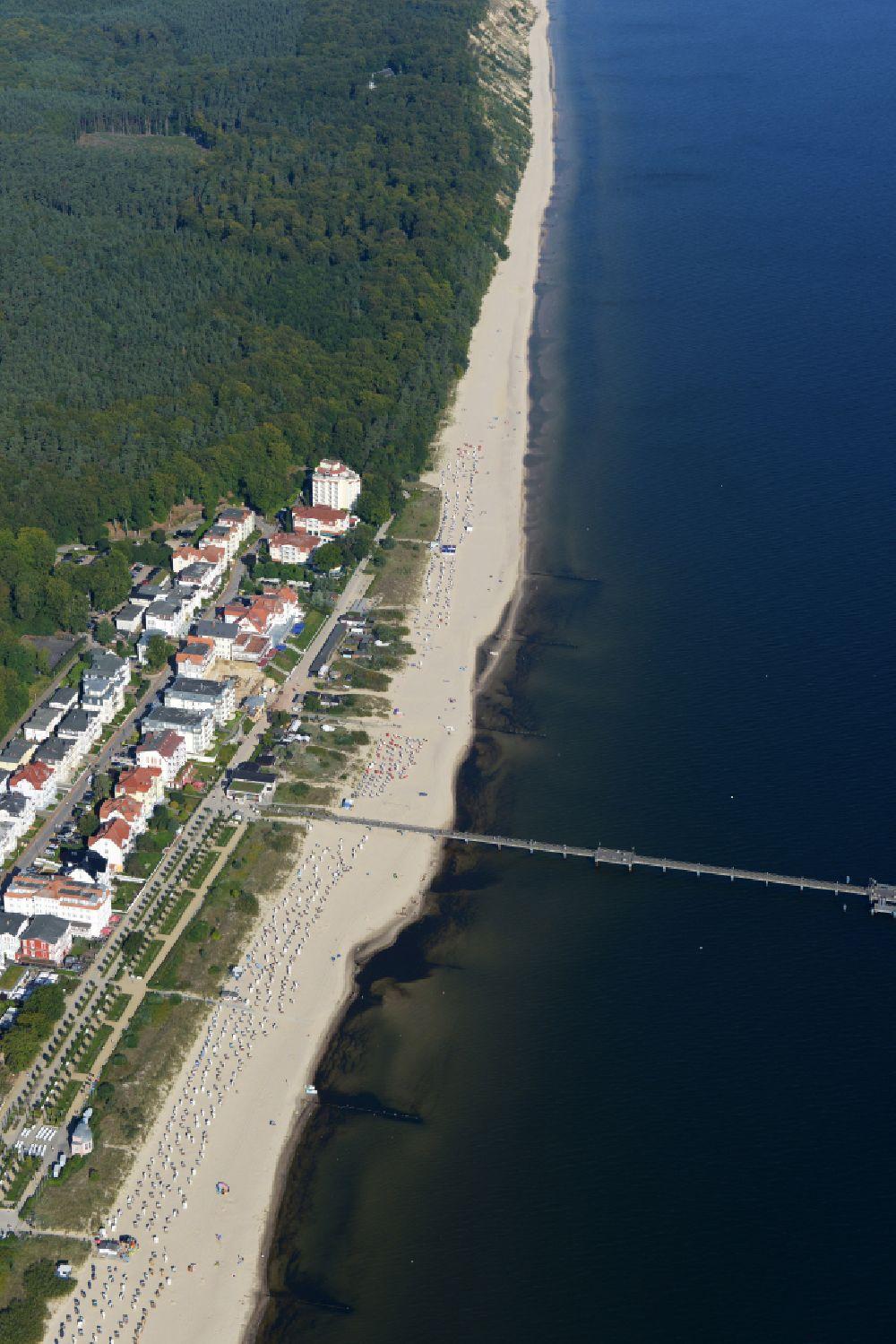 Luftbild Heringsdorf Ortsansicht Des Küstenbereiches Von Bansin