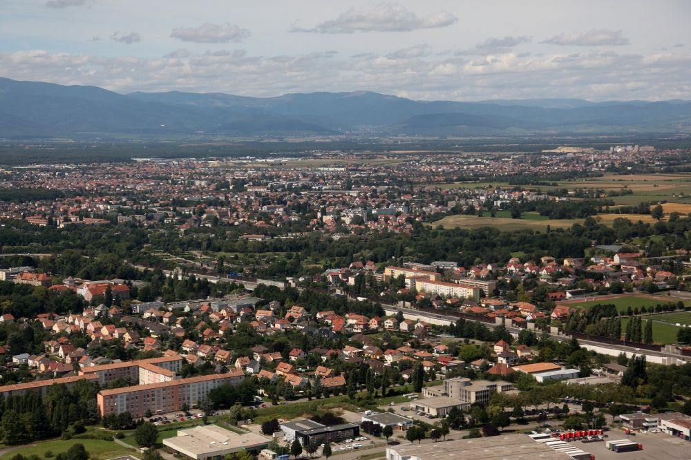 Mulhouse Frankreich mülhausen aus der vogelperspektive ortsansicht mulhouse dem