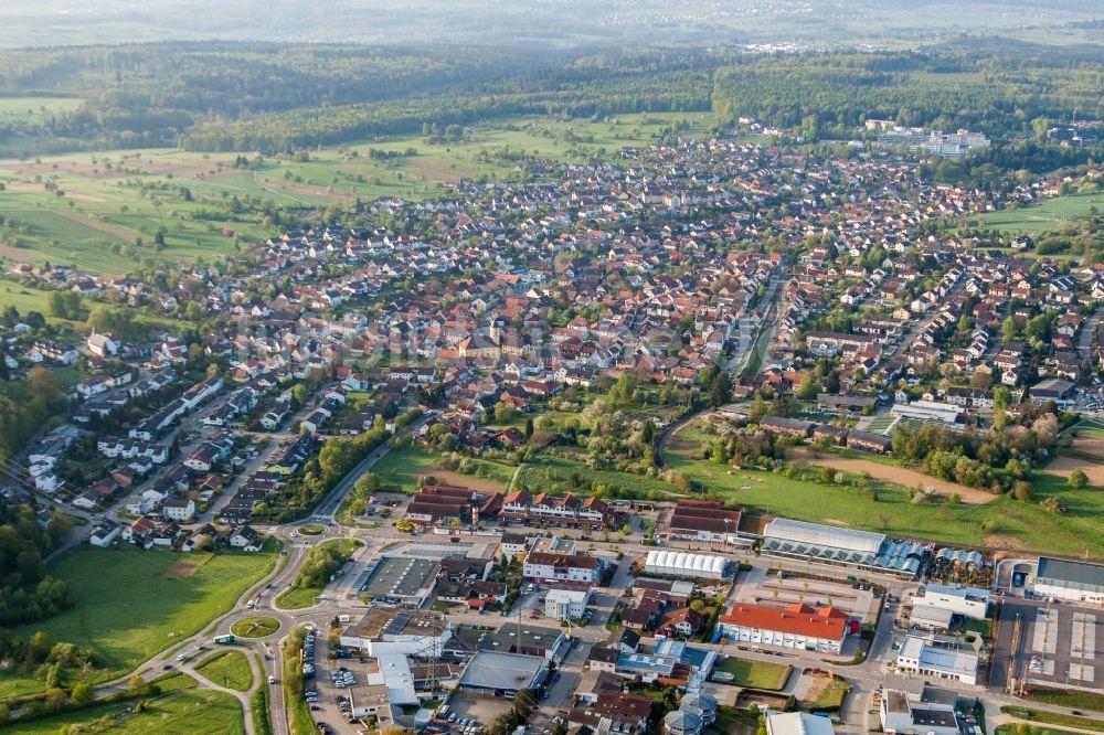 Luftbild Karlsbad - Ortsansicht im Ortsteil