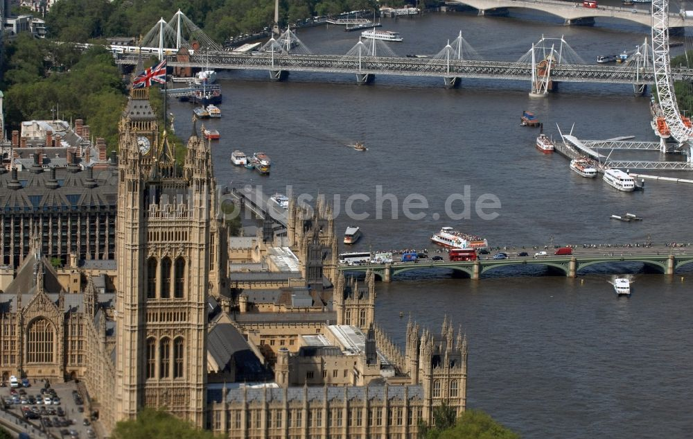 Luftaufnahme London - Palace of Westminster / Westminster- Palast in London