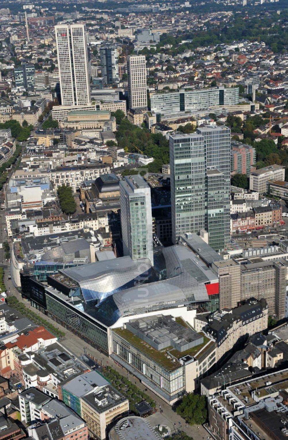 Baufirmen In Frankfurt am aus der vogelperspektive palais quartier im zentrum