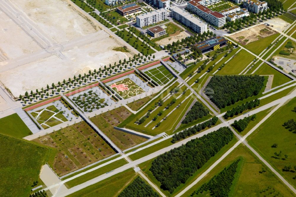 Luftbild München Parkanlage Und Grünflächen Im Süden Der