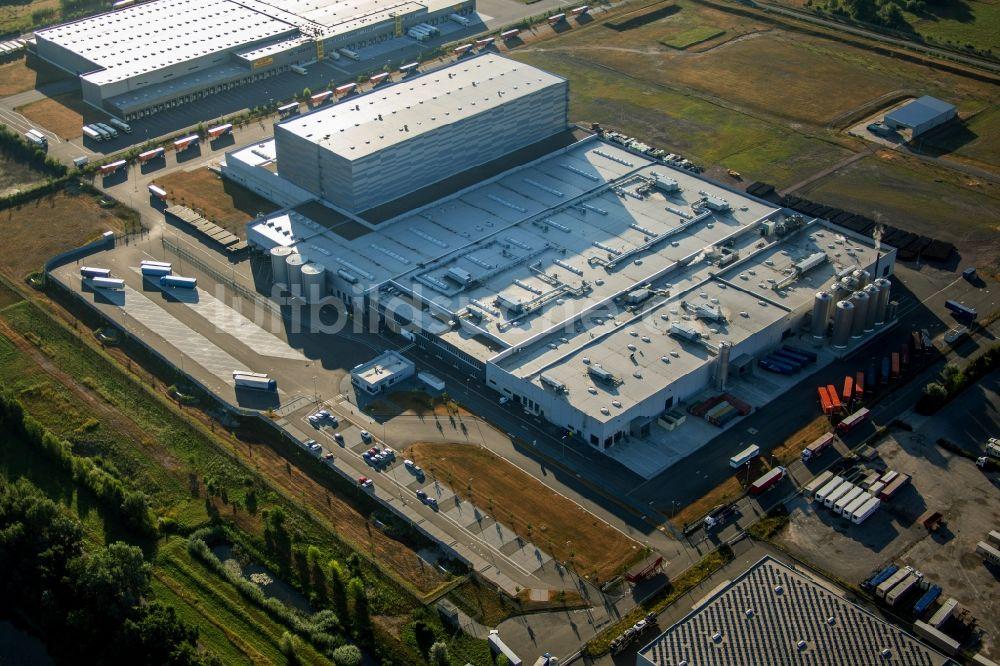 Luftaufnahme Wörth am Rhein - Produktionsstätte der MEG Getränke ...