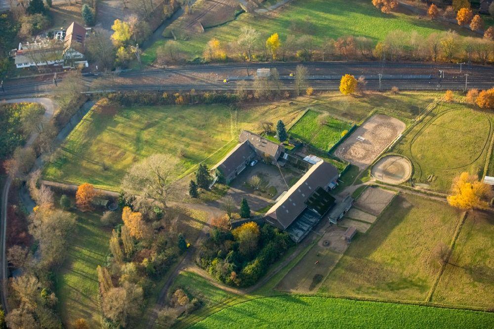 Luftaufnahme Duisburg - Reitstall - Reiterhof - Marstall