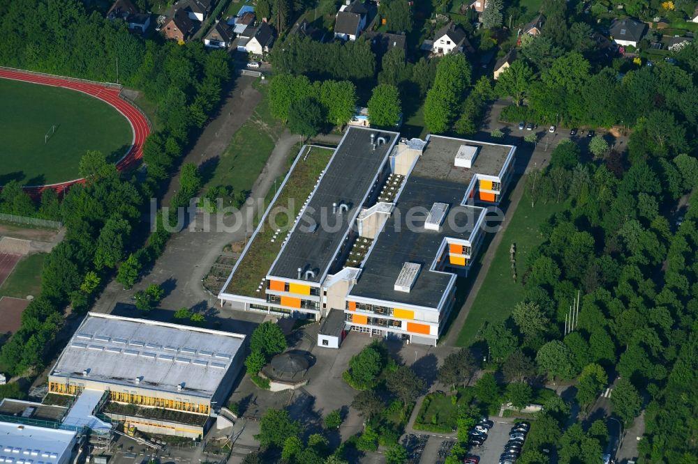 Glinde von oben - Schulgebäude des Gymnasium Sönke-Nissen ...
