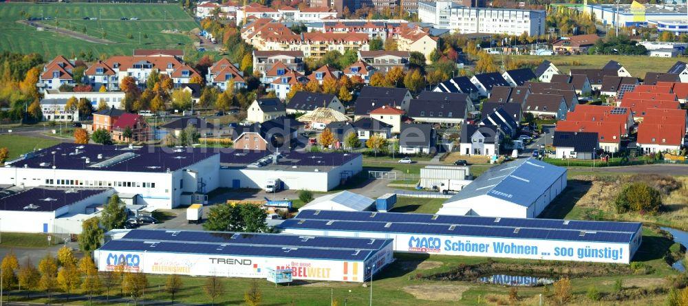 Luftbild Magdeburg - Sitz des Einrichtungsunternehmens MACO-Möbel ...