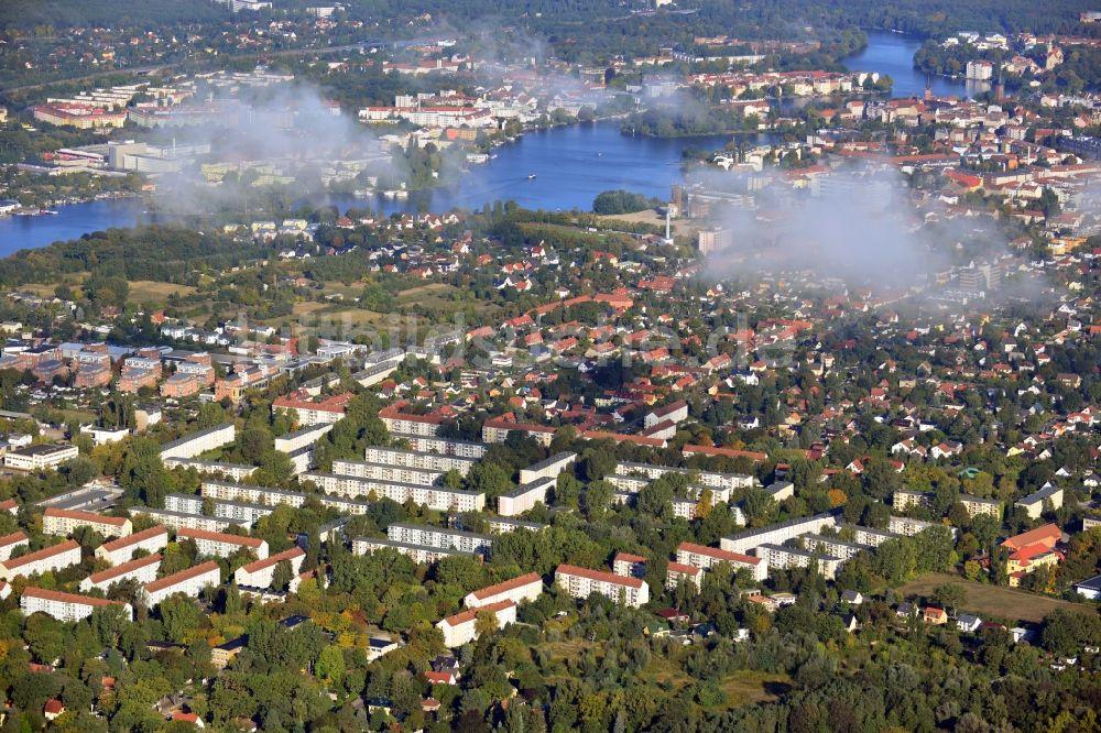 Luftbild Berlin Stadtansicht Mit Wolken Und Blick über Den
