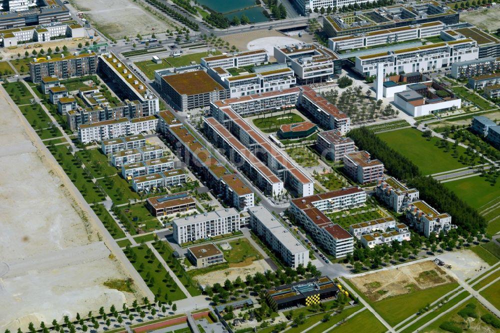 München Von Oben Stadtteilansicht Der Messestadt Riem In München