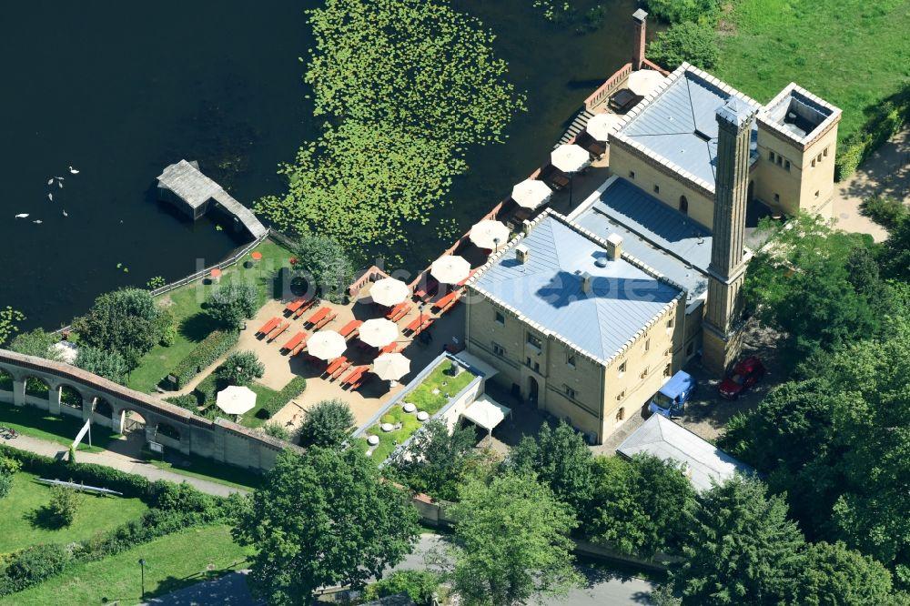 Luftbild Potsdam Tische Und Sitzbanke Der Freiluft Gaststatten Der Gasthausbrauerei Meierei Im Neuen Garten Gmbh Im
