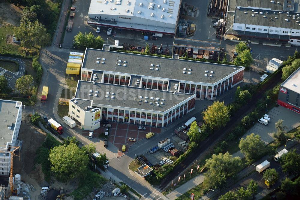 Borkowski Umzüge Berlin aus der vogelperspektive verwaltungsgebäude des unternehmens