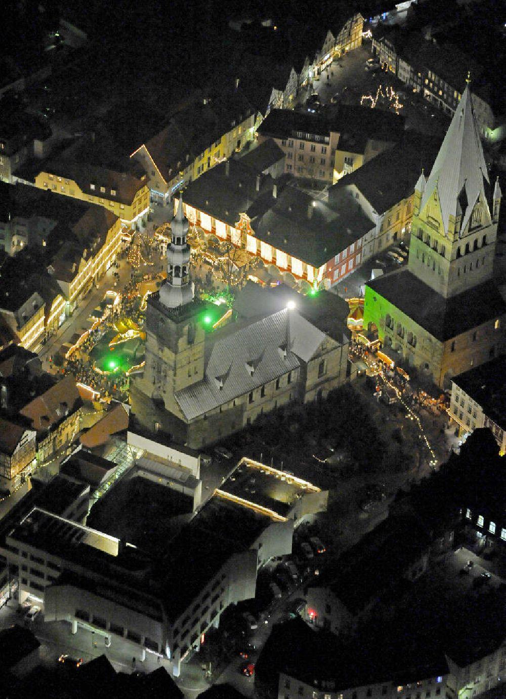 Soest Weihnachtsmarkt.Luftbild Soest Weihnachtsmarkt Soest