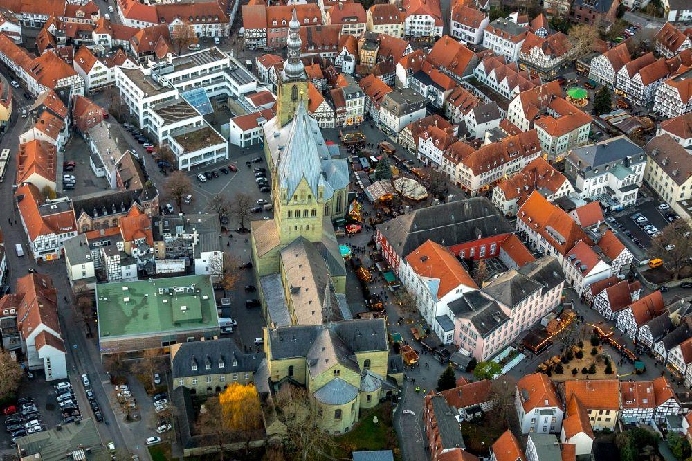 Soest Weihnachtsmarkt.Luftaufnahme Soest Weihnachtsmarkt Veranstaltungsgelande