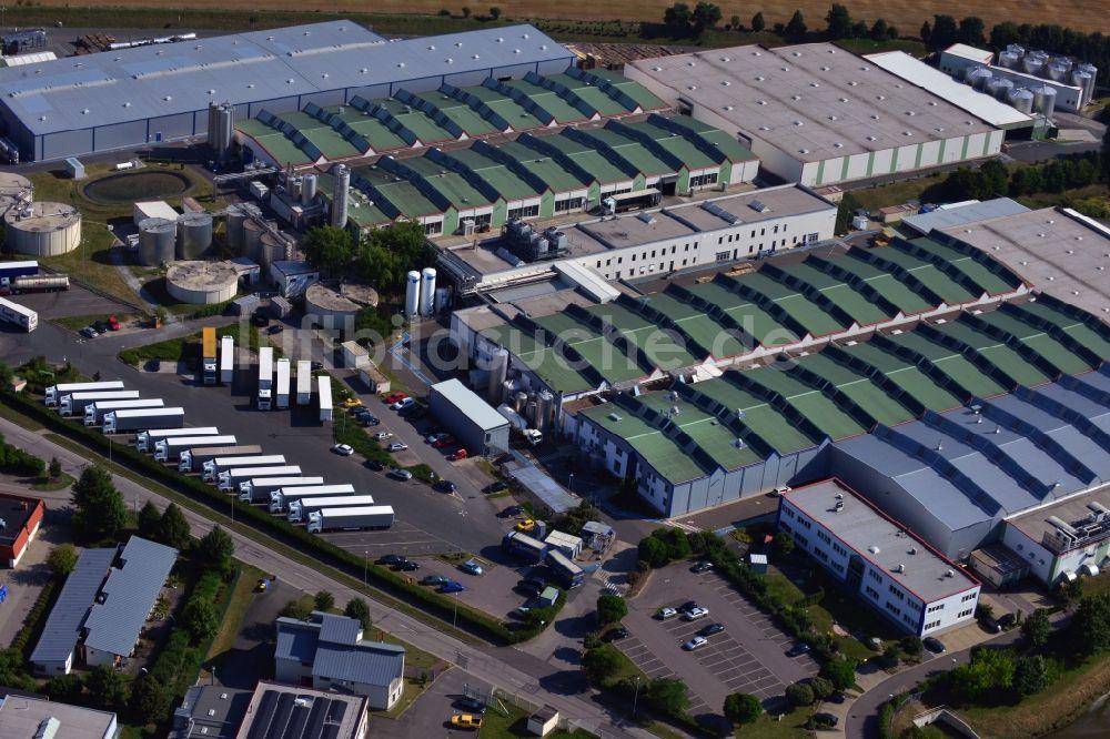 Weißenfels OT Leißling von oben - Werksgelände der Gertränkefabrik ...