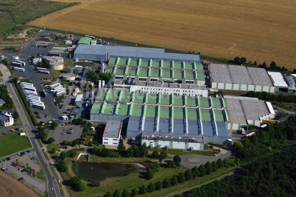 Luftbild Weißenfels OT Leißling - Werksgelände der Gertränkefabrik ...