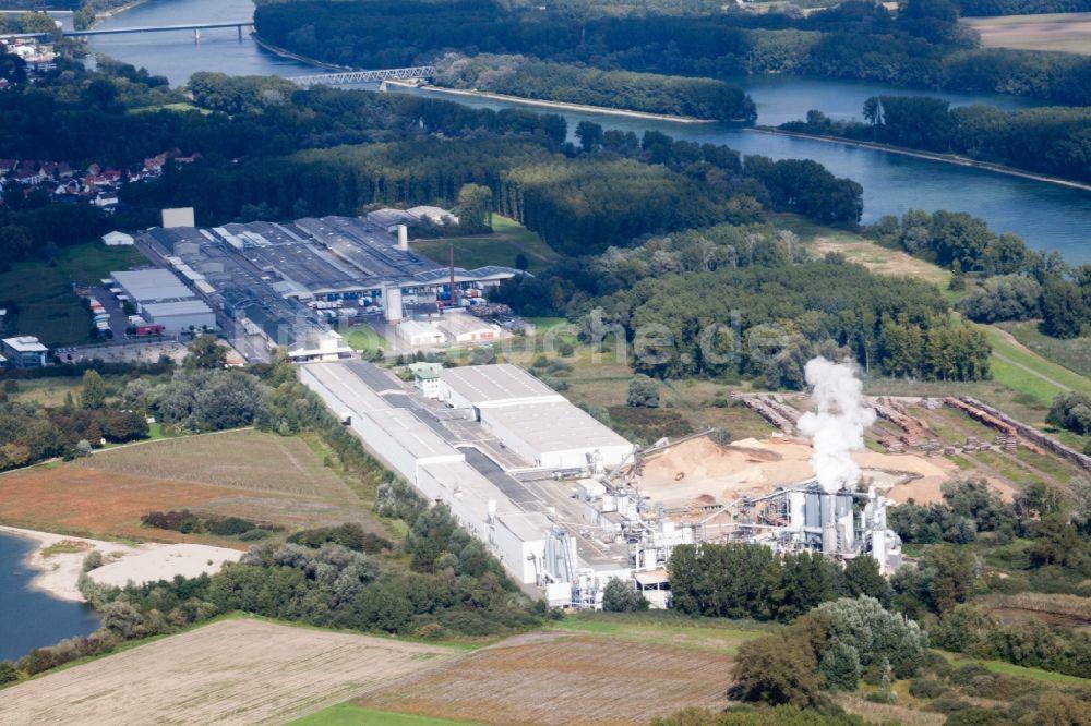 Germersheim von oben - Werksgelände der Nolte Möbel GmbH & Co. KG in ...